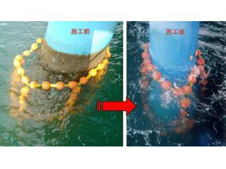 クリーンフロートによる海生物除去